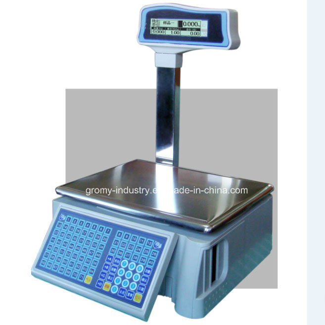 Electronic OIML Price Label Barcode Printing Scale with Pole Display