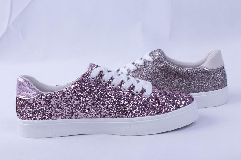 Vulcanized Shoes Rubber Outsole Glitter Fashion Bz1633