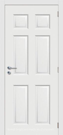 Interior MDF/HDF White Primed Moulded Door S8-06