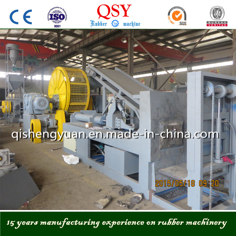 Full Automatic Waste Tyre Recycle Machines & Rubber Powder Production Line