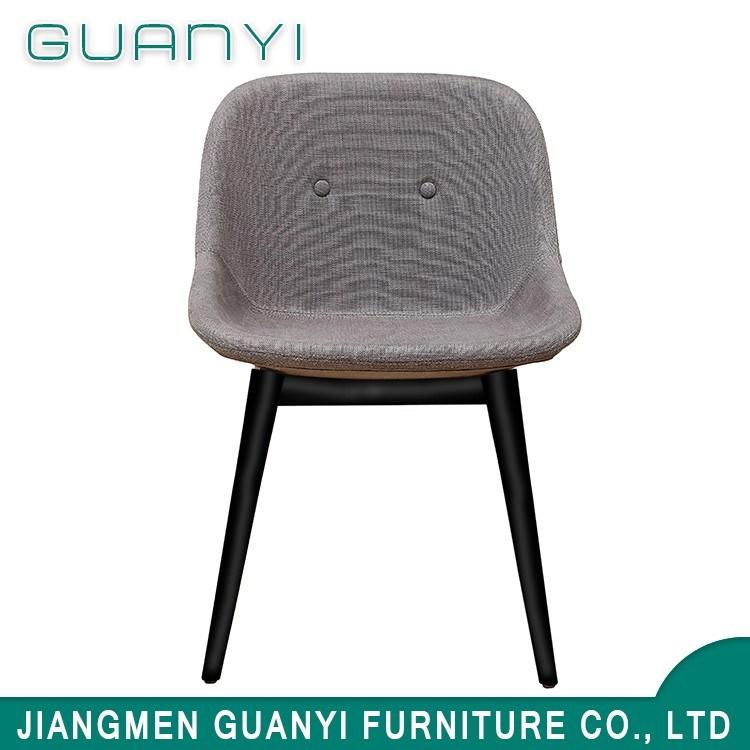 Chair Furniture Simple Modern Design Iron Metal Frame Leg PU Fabric Foam Restaurant Dining Chair