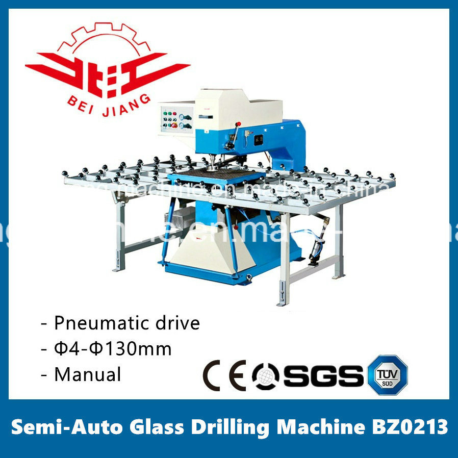 Glass Semi-Auto Drilling Machine with Work Table