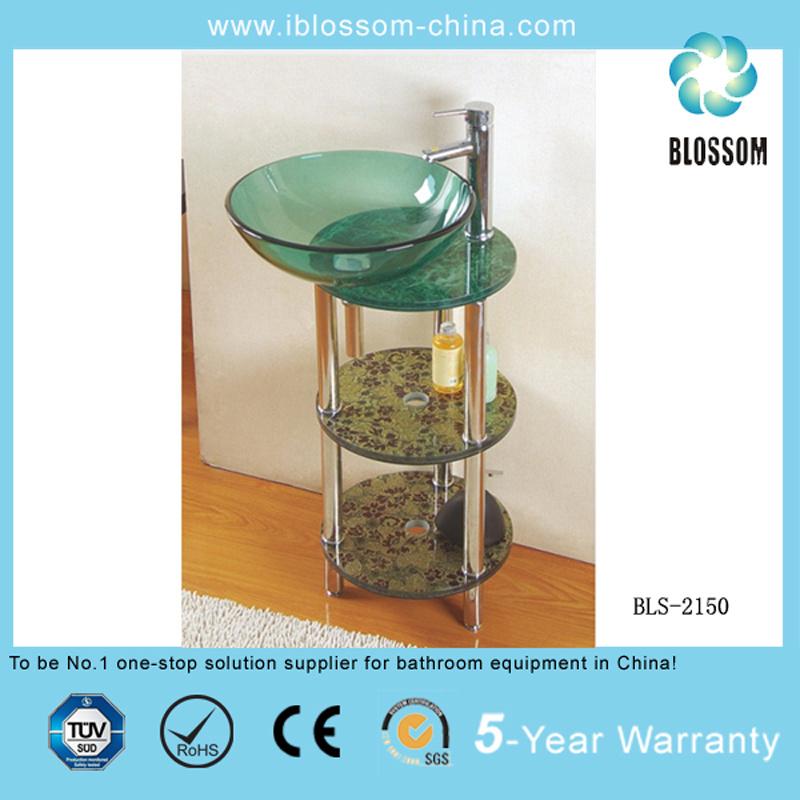 Glass Sanitary Bathroom Furniture (BLS-2150)