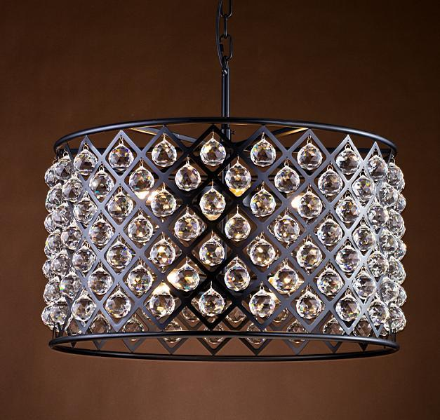 Metallic Clinder Chandelier with Crystal Balls (WHG-929)
