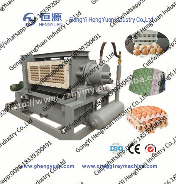 First Hand Paper Pulp Machine Producing Egg Box