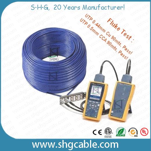 Fluke Test Pass Network LAN Cable CAT6 UTP