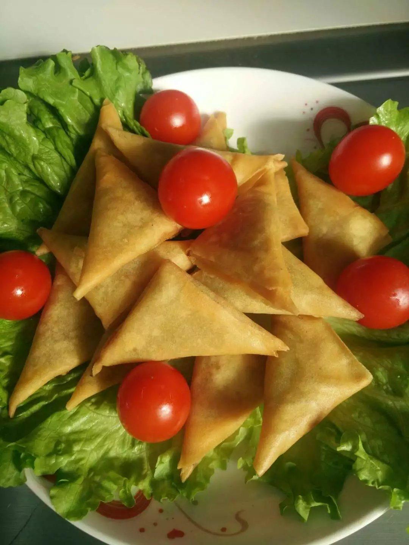 Tsing Tao Curry Powder Vegetable Frozen 12.5g/piece Samosas