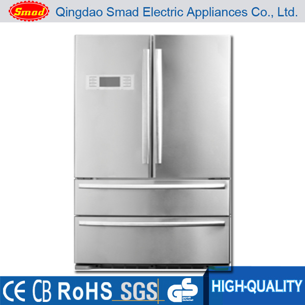 No Frost French Door Side by Side Refrigerator with Icemaker