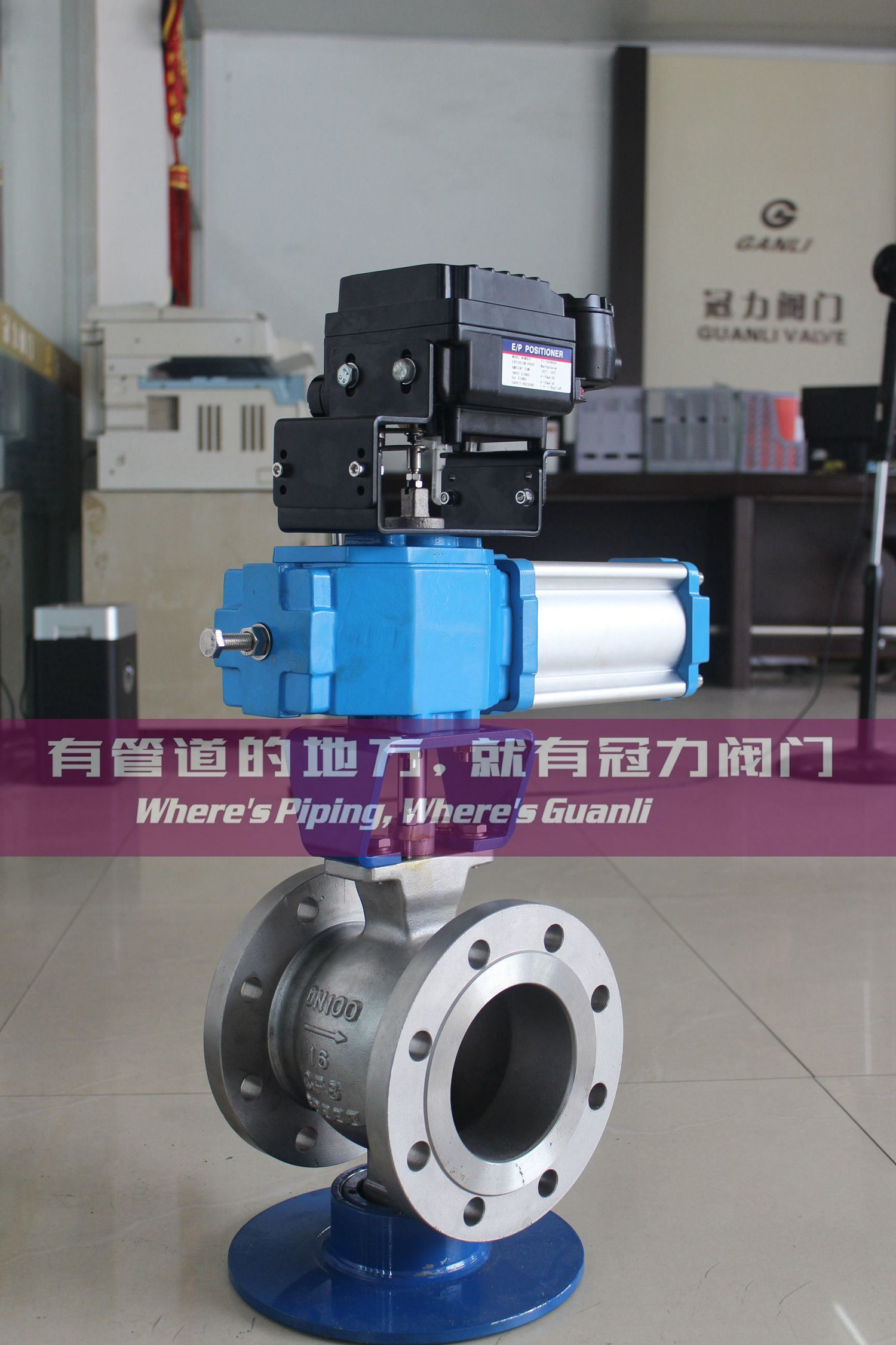 V Segment Ball Valve with Pneumatic Actuator