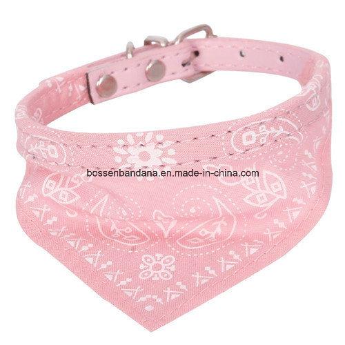 OEM Produce Customized Logo Printed Small Adjustable Pet Dog Cat Bandana Scarf Collar Neckerchief