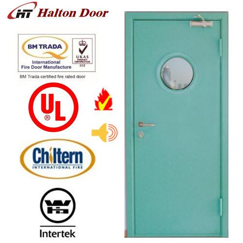 Steel Fireproofing Door/Fireproof Tested/UL Certified with Vision Glass/Fireproof Door