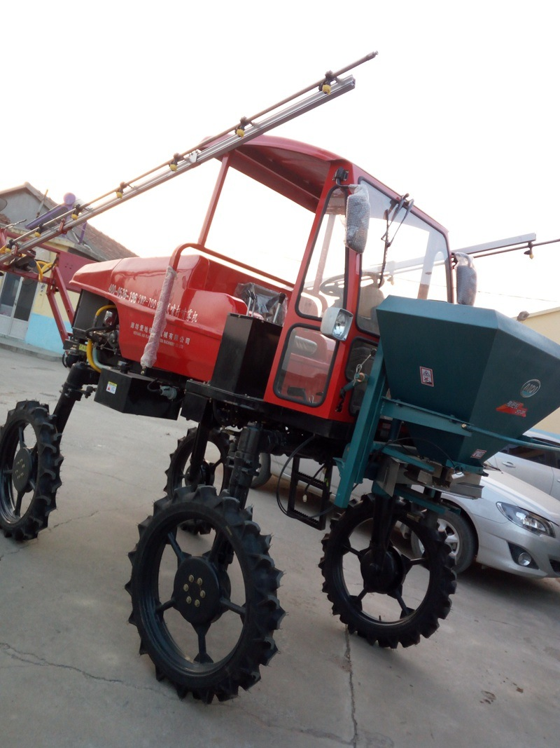 Aidi Brand 4WD Hst Hand Tractor Boom Sprayer for Paddy Field and Farm Land