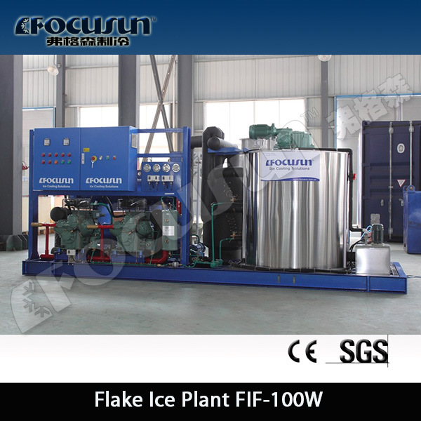 [2016 Hot Sales]10 Tons/Day Flake Ice Machine for Freezing Fish