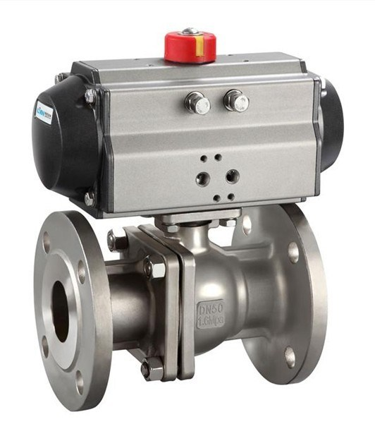 Pneumatic Flanged Ball Valve (Q641F-16P)