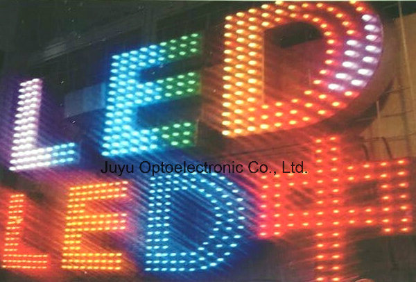 6mm/Green Outdoor Exposed Luminous Letter LED Pixel Light