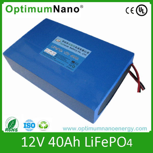 LiFePO4 12V 40ah with BMS for LED Light