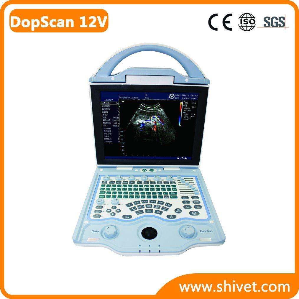 Portable Veterinary Color Doppler (DopScan 12V)
