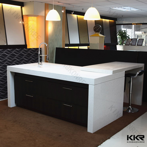 China Prefab Sparkle White Artificial Quartz Stone Countertop And Vanity Top Photos Pictures