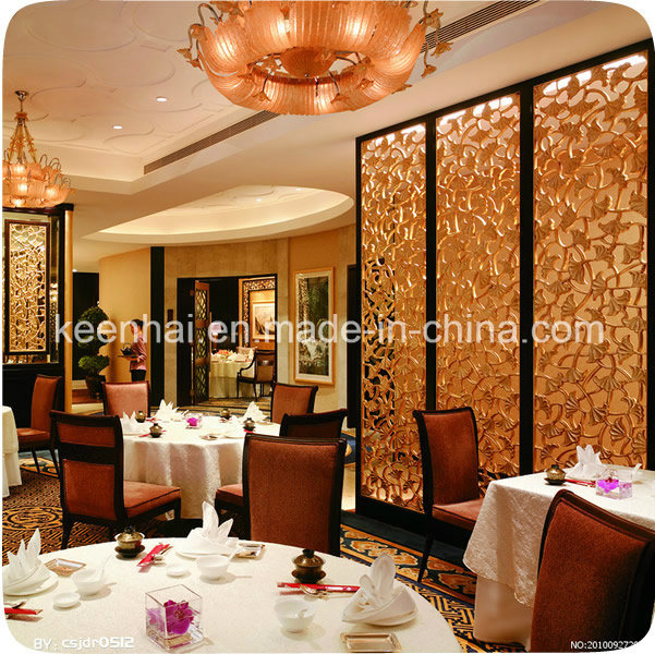 Metal Stainless Steel Restaurant Room Partition Screen