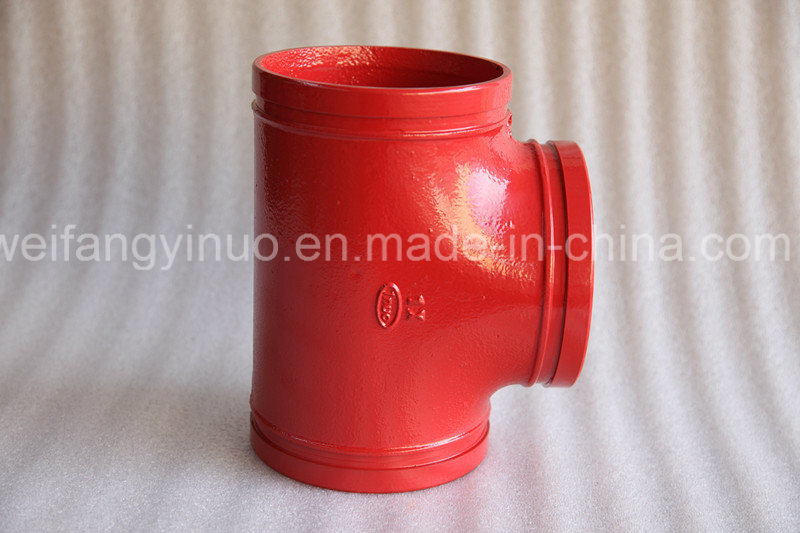 FM/UL Ductile Iron Grooved Equal Tee for Fire Fighting Systems