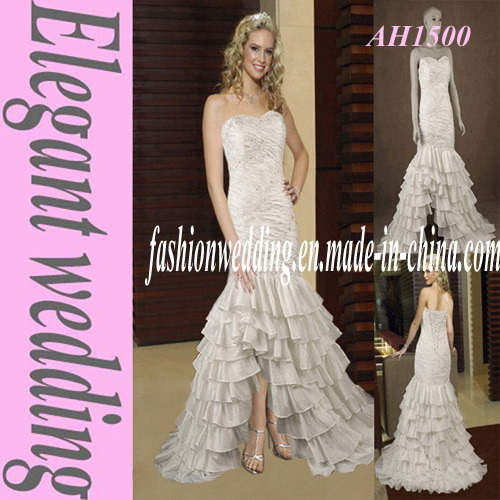 Mermaid Taffeta Strapless Wedding Dress Ah1500