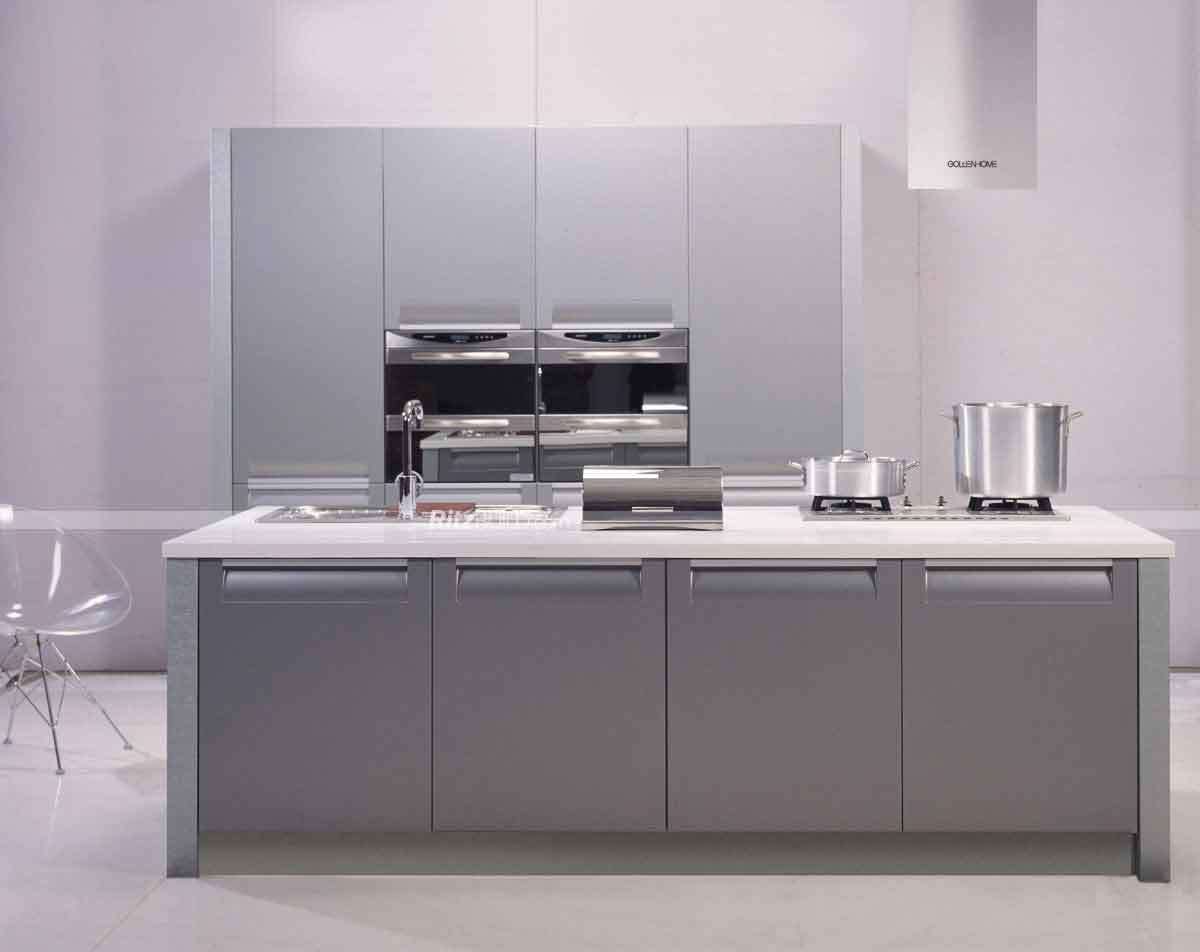 China modern germany pvc kitchen cabinet design for small for Budget kitchen cupboards