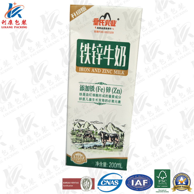 Aseptic Laminated Paper for Milk