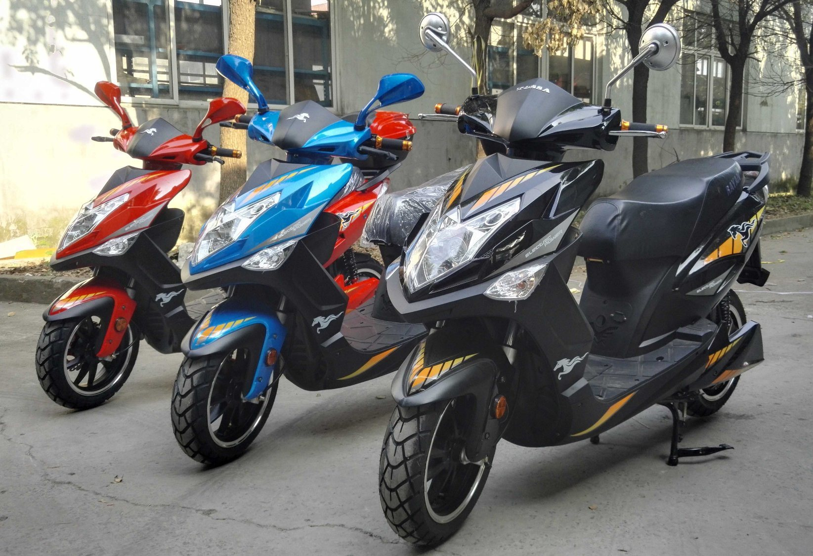 South America Cuba and Panama Market Hot Sales 1000W/1500W/2000W 72V20ah Lead Acid/ Lithium Battery Electric Motorcycle