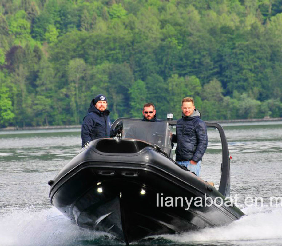 Liya 22feet Best Quality Rib Inflatable Boat with Engine for Sale