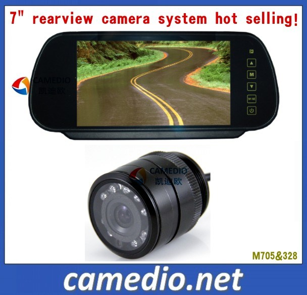 7inch Digital Mirror Monitor Night Vision Car Rear View Camera System
