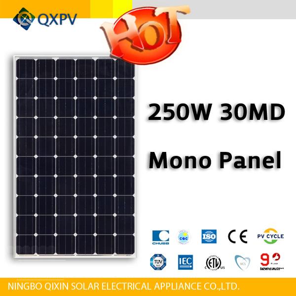 30V 250W Mono Solar Panel
