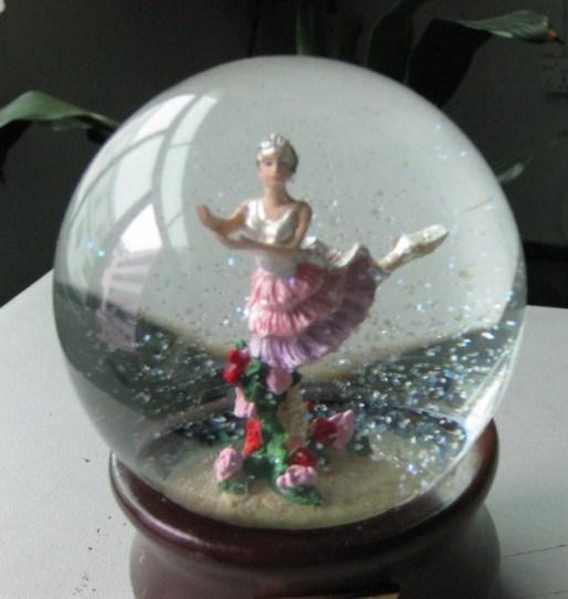 China glass crafts angel water ball