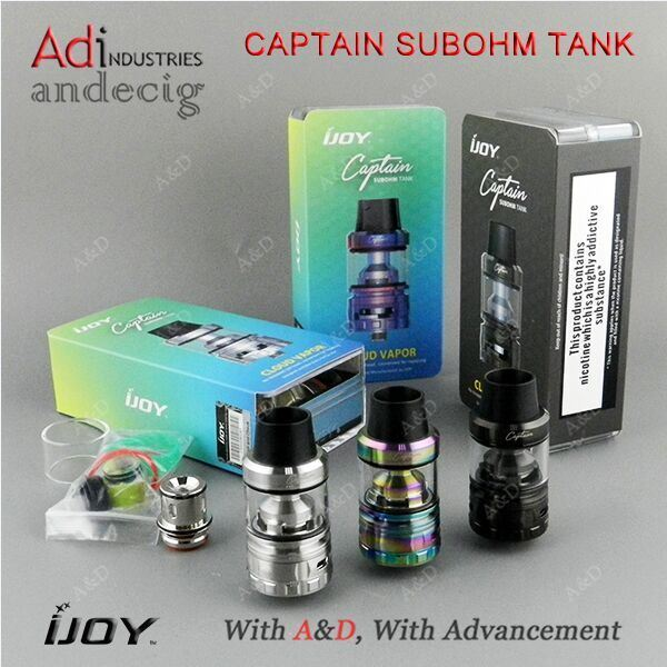 2017 Newest Sub Ohm Tank Ijoy Captain Subohm Tank with 4ml Tank Capacity