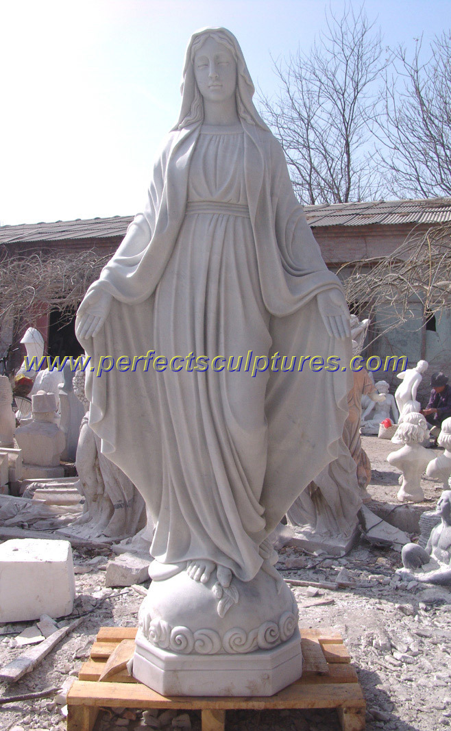 Virgin Mary Statue Stone Sculpture For Marble Garden Sculpture (SY X1083)
