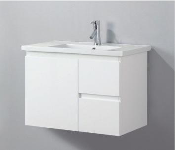 China High Gloss White Color Wall Mounted Bathroom Vanity