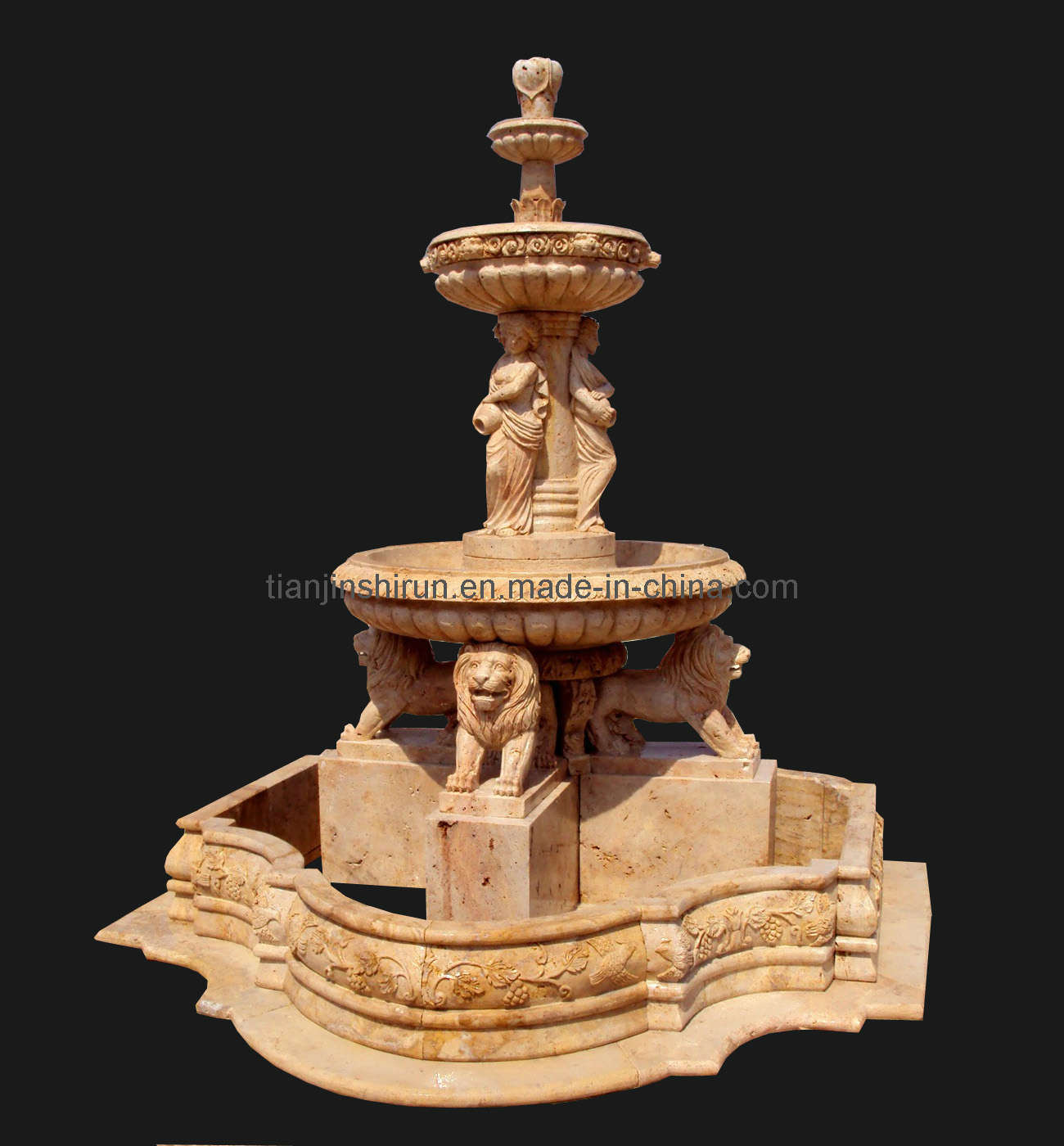 3 Tier Marble Stone Fountain, Water Garden Fountain (XF400)