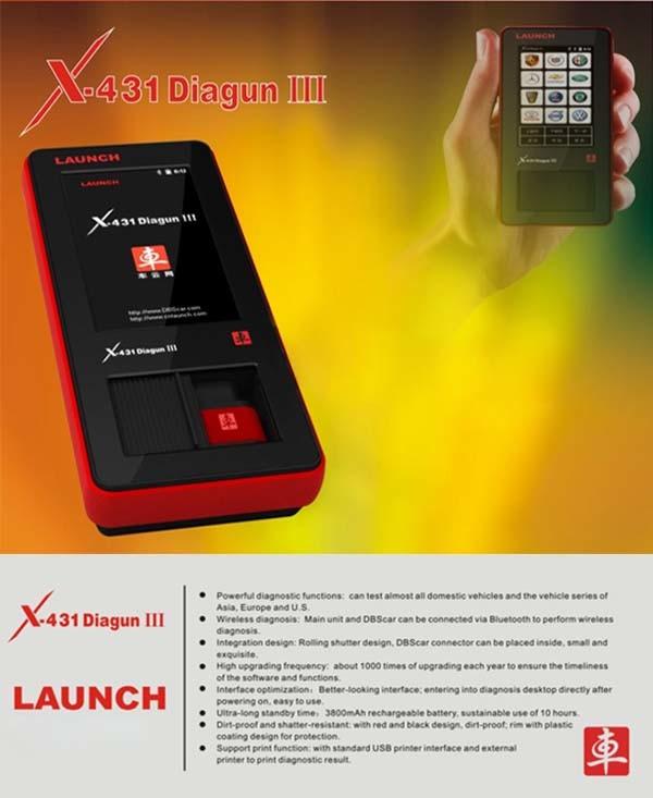 X-431 Diagun III X431 Diagun3 Auto Diagnostic Tool Updated Online