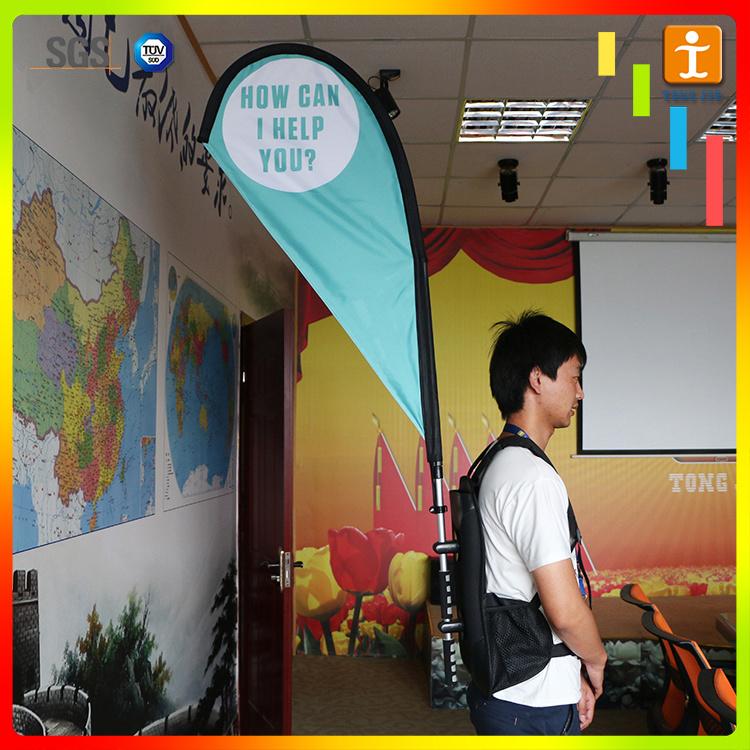 Advertising Promotion Street Display Flag Backpack Banner