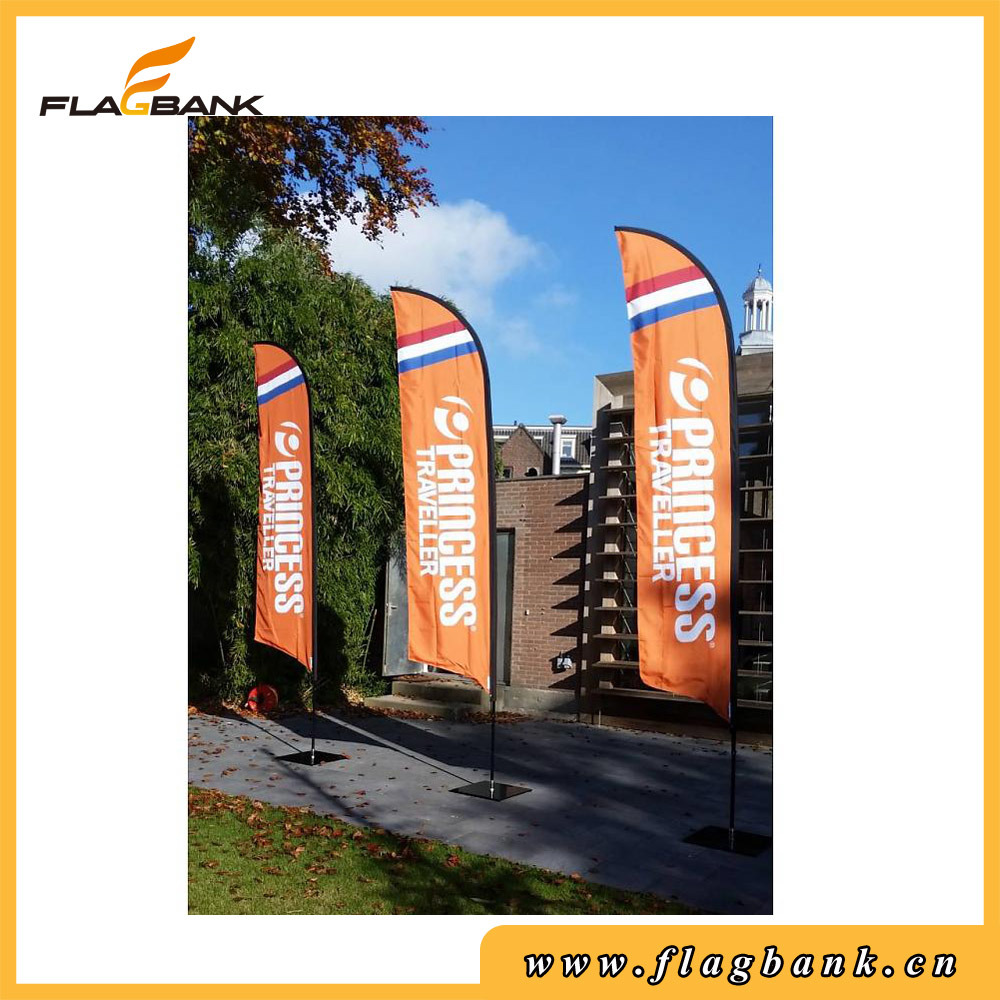 4.5m Advertising Aluminium Portable Feather Flag/Beach Flag