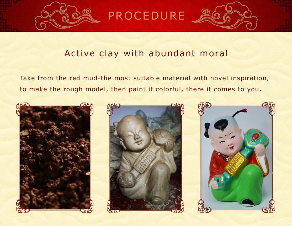 Classic Handicraft Colorful Clay Fengshui