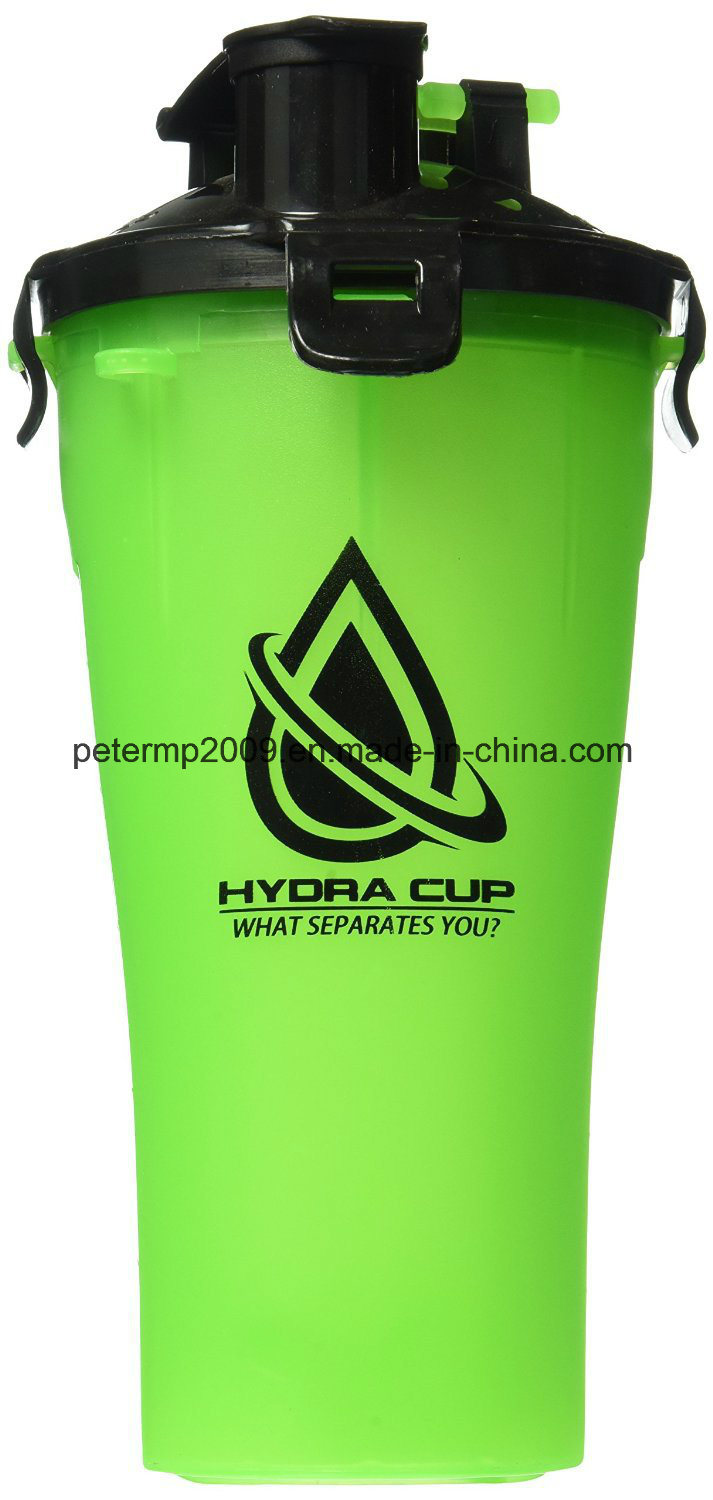 700ml 25oz BPA-Free Wholesale Shaker Bottle, Protein Shaker with Two Containers