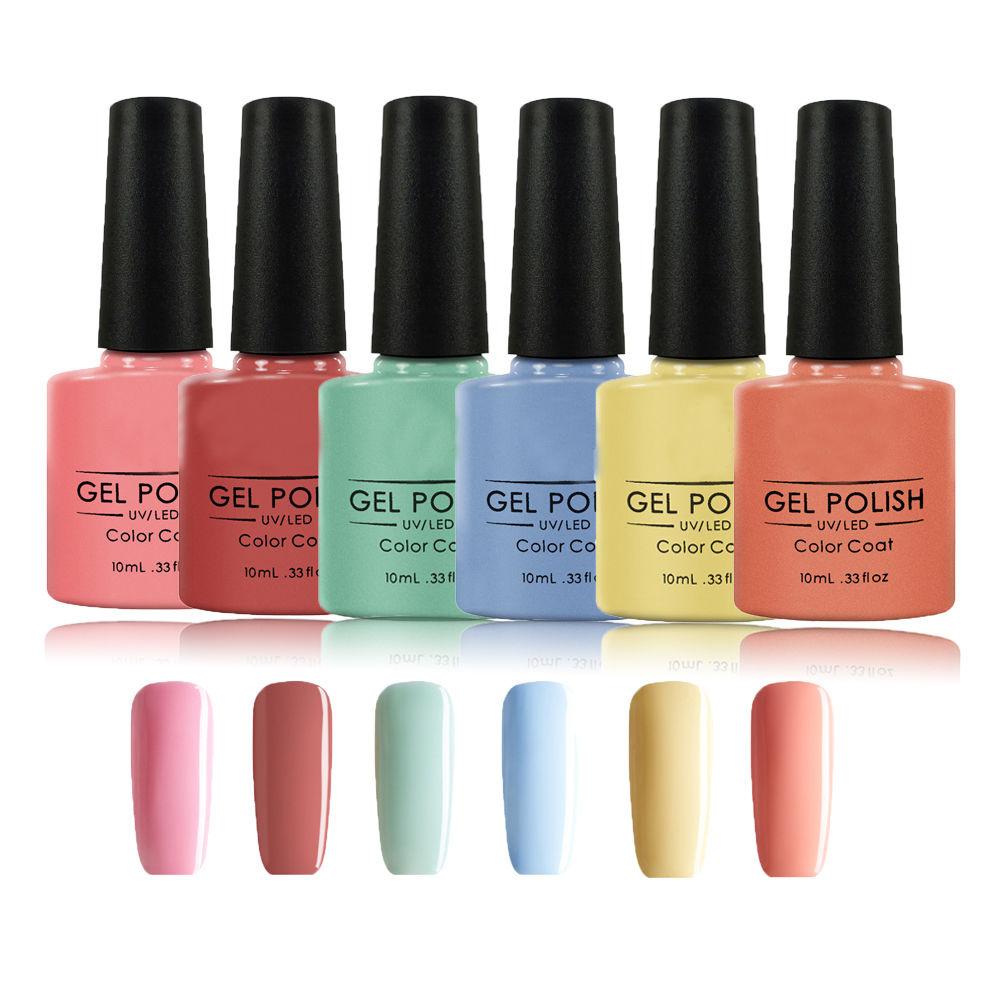Srn 6PCS/Set Soak off Gel Nail Polish Kit Long Lasting Gel Lacquer