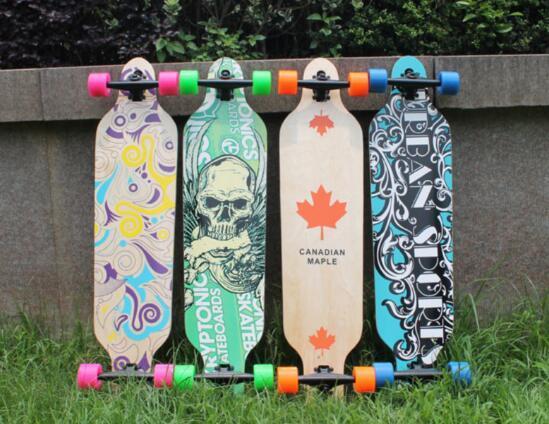Maple Wood Deck Longboard Adult High Speed Drift Skate Skateboard