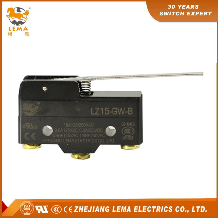 High Quality Lema Lz15-Gw-B Mechanical Hinge Lever Micro Switch