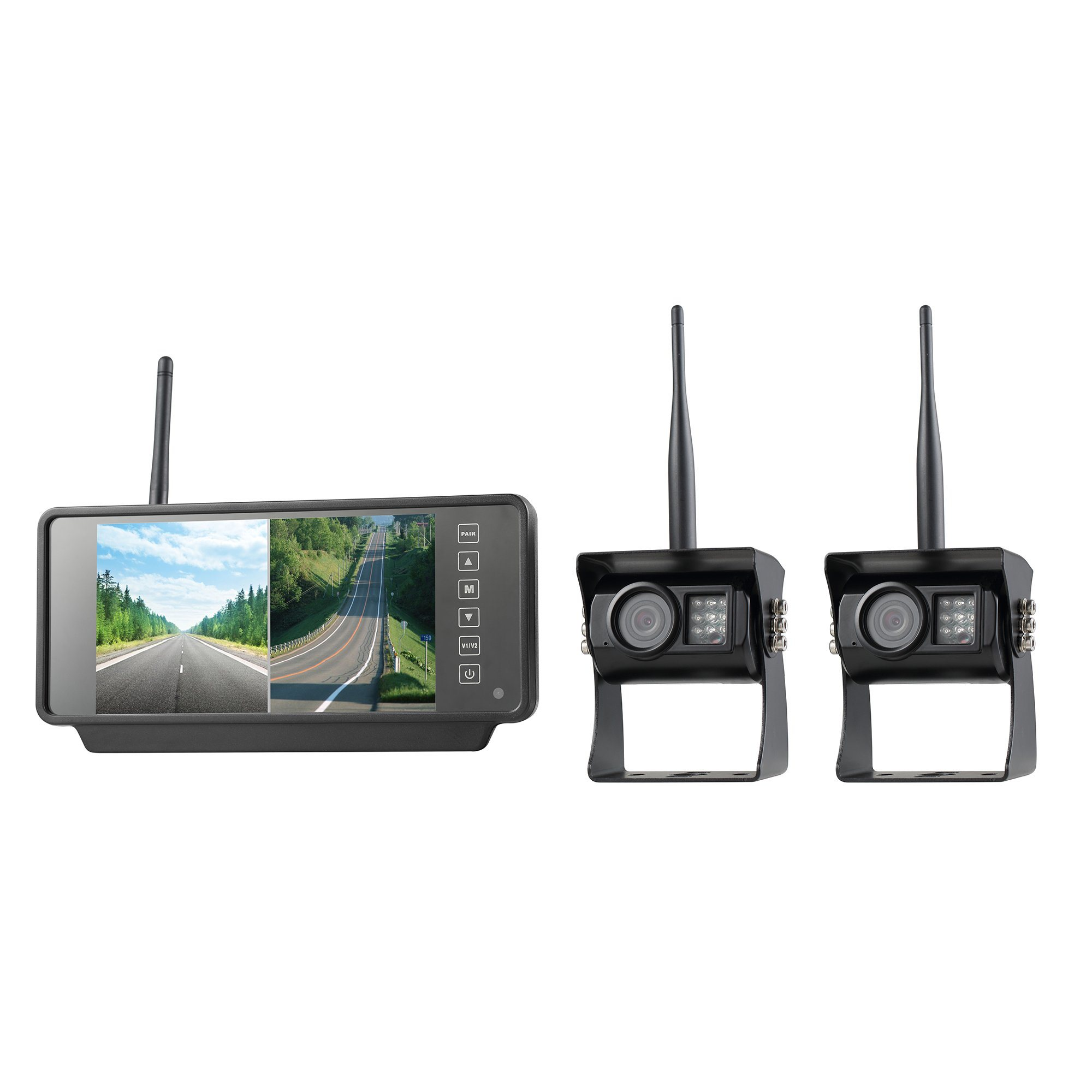 "7"" Two-Way Wireless System Truck Camera with Mirror Monitor, Ce and RoHS Directive-Compliant"