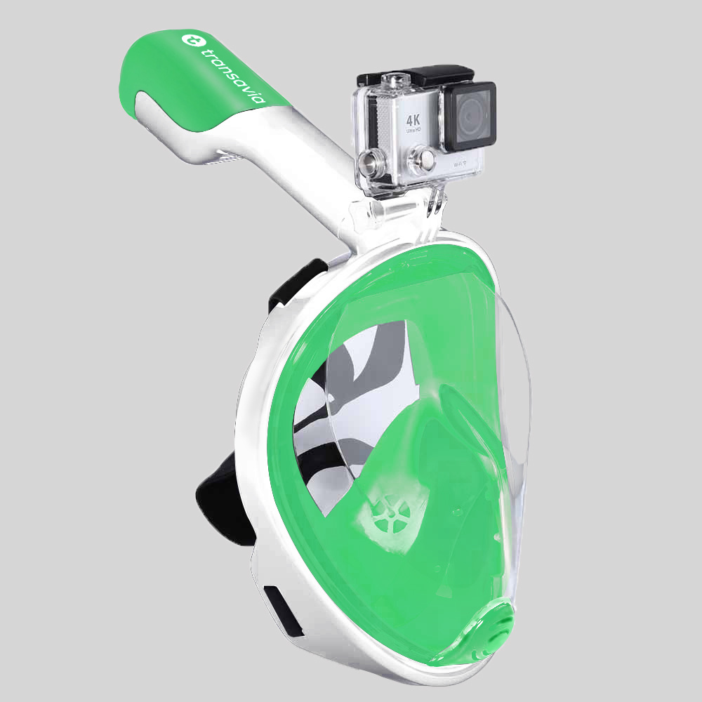 Green Full Face Snorkel Mask with Camera Mount Diving Ce RoHS Hot Selling on Amazon