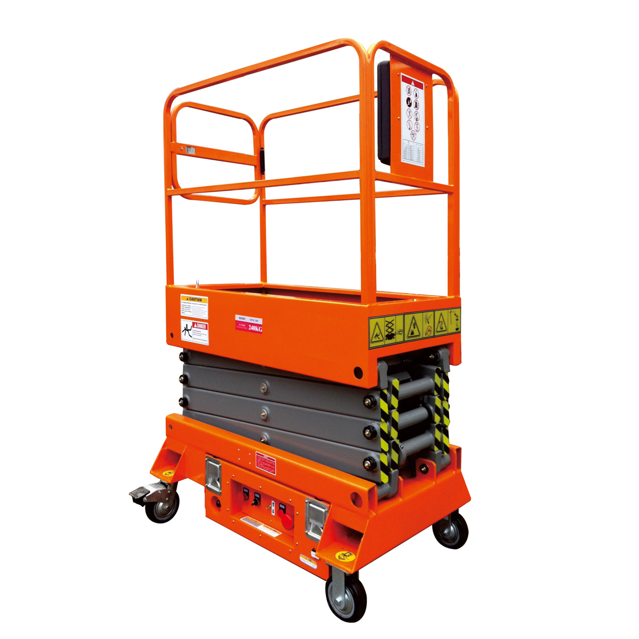 3m Height 240kg Rated Load Mobile Mini Scissor Lift