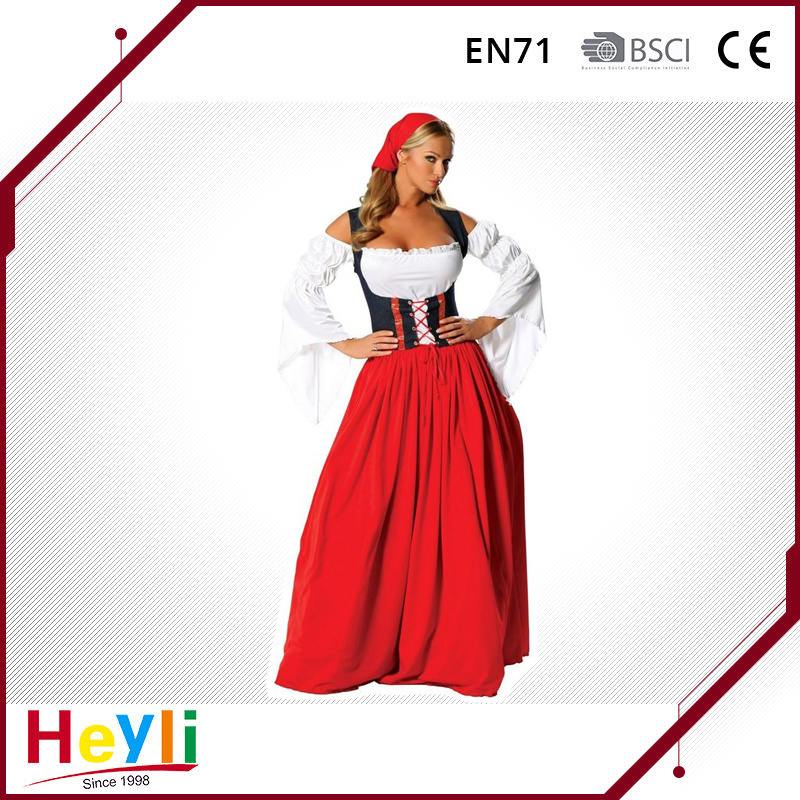 New Design Party Cosplay Tavern Wench Dress Costume