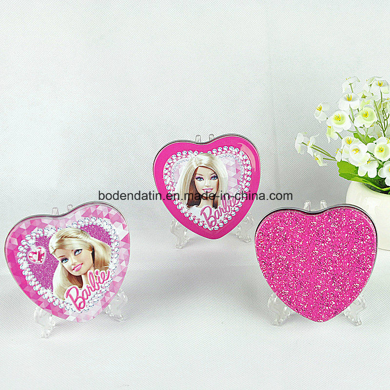 Custom Metal Tin Box for Gift with Heart Shape
