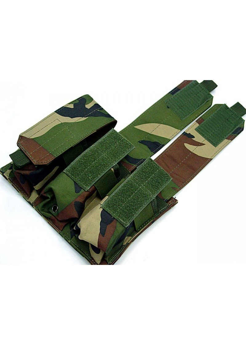 Military Airsoft Molle M4 Triple Magazine Pouch